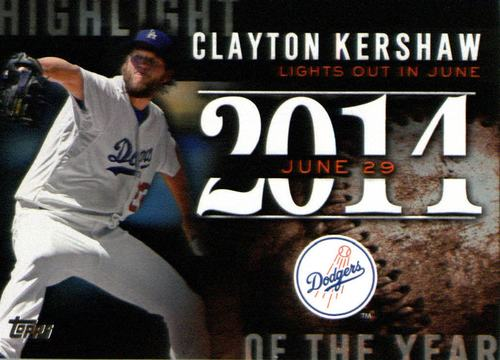 Photo of 2015 Topps Highlight of the Year #H60 Clayton Kershaw