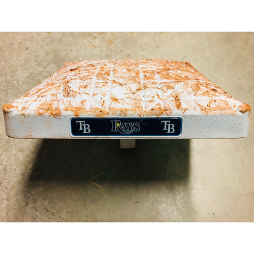 Photo of Game Used 2nd Base (Innings 1-3): Mike Trout double and Shohei Ohtani stolen base - June 14, 2019 v LAA
