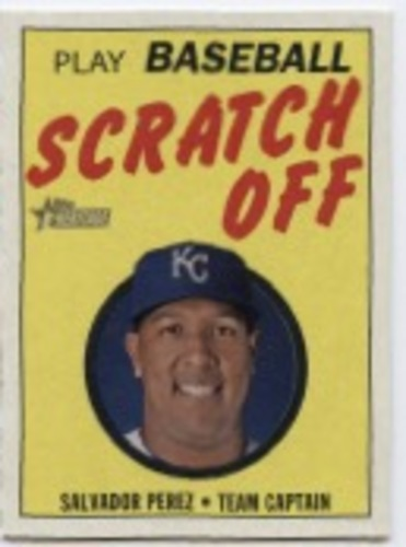 Photo of 2019 Topps Heritage '70 Topps Scratch Offs #26 Salvador Perez