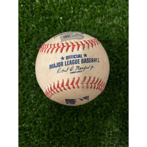 Photo of Cory Seager Game Used Hit Double Baseball - 8/17/2019