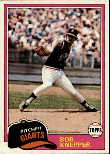 Photo of 1981 Topps #279 Bob Knepper