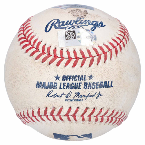 Photo of New York Yankees Game-Used Baseball vs. Los Angeles Angels on September 19, 2019