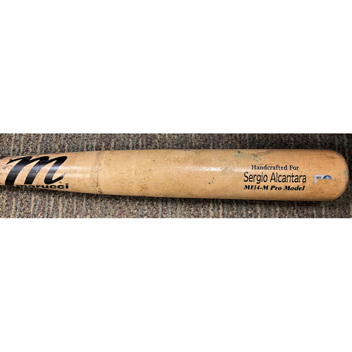 Photo of Sergio Alcantara Detroit Tigers Game-Used Cracked Bat (MLB AUTHENTICATED)