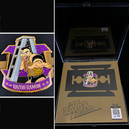 Photo of Razor Ramon Limited Edition Gold VARIANT Collectors Pin (Random Number)