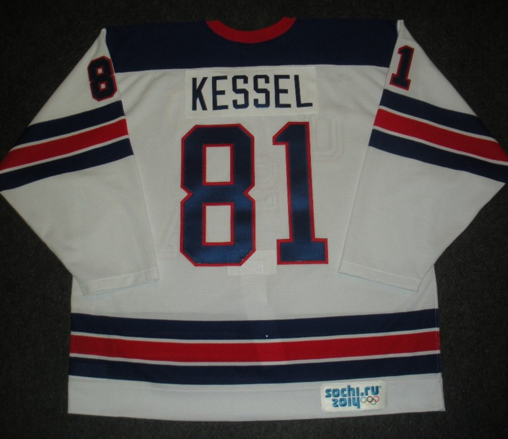 Phil Kessel - Sochi 2014 - Winter Olympic Games - Team USA Throwback Game-Worn Jersey - Worn in Warmups and 1st Period vs. Slovenia, 2/16/14
