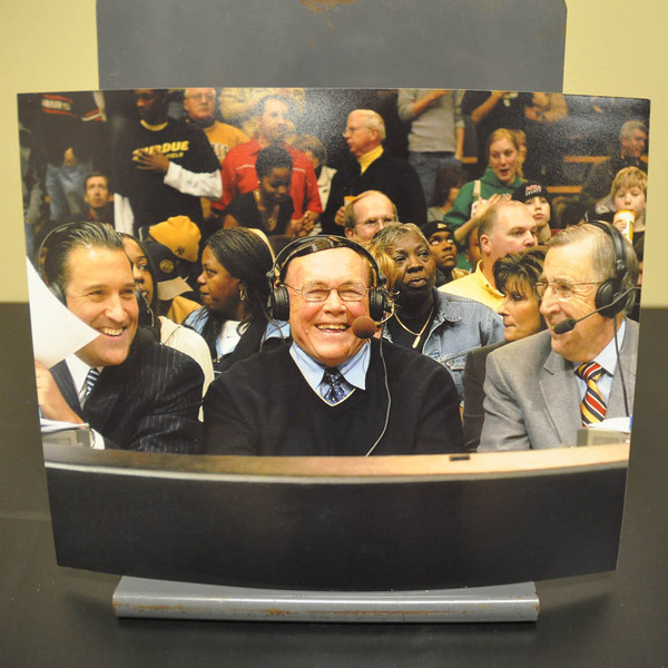 Photo of Gene Keady with Steve Lavin & Brent Musburger