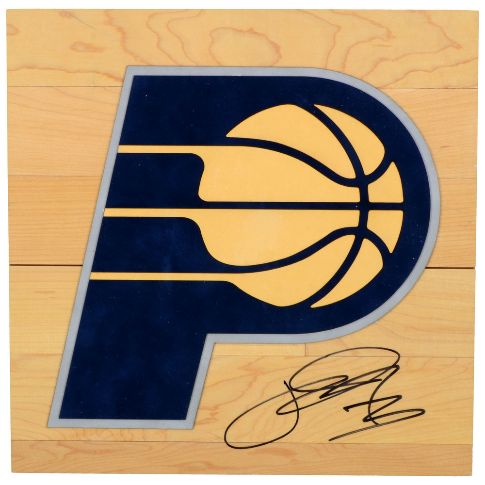 Paul George Indiana Pacers Autographed Floorboard