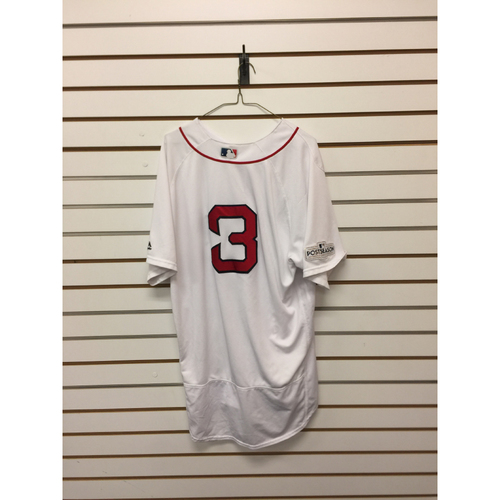 Photo of Sandy Leon Game-Used October 8, 2017 ALDS Game 3 Home Jersey