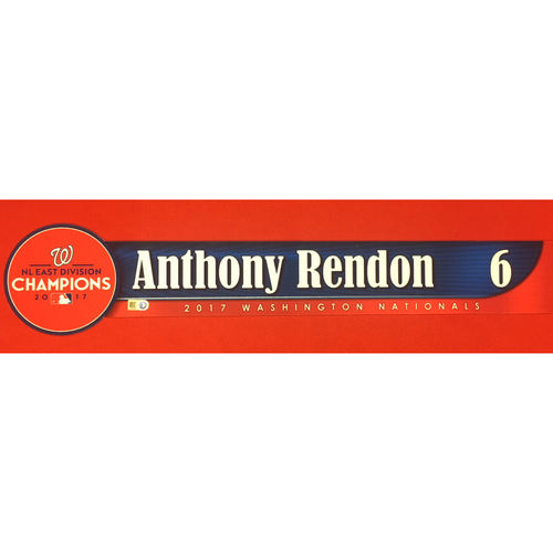 Photo of Game-Used Locker Name Plate: Anthony Rendon