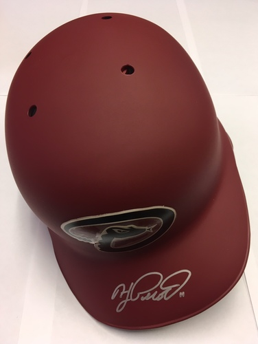 Photo of AJ Pollock Autographed Diamondbacks Batting Helmet