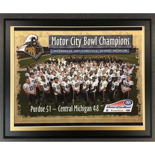 Photo of 2007 Motor City Bowl Purdue Champions Plaque