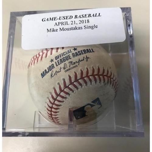 Photo of Game-Used Baseball: Mike Moustakas Single