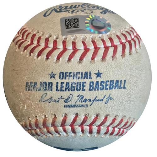 Photo of Game-Used Baseball from Pirates vs. Nationals on 7/11/18 - Bryce Harper Walk