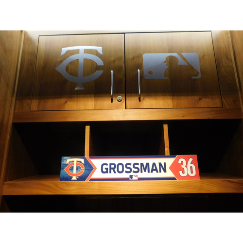 Photo of 2018 Robbie Grossman Game-Used Locker Name Plate