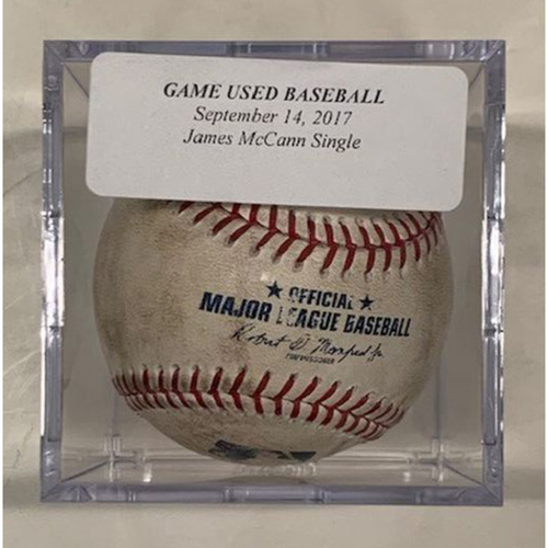 Game-Used Baseball: James McCann Single