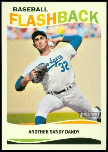 Photo of 2013 Topps Heritage Baseball Flashbacks #SK Sandy Koufax
