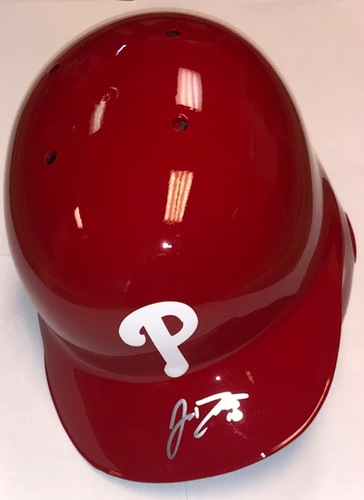 Photo of J.T. Realmuto Autographed Phillies Batting Helmet