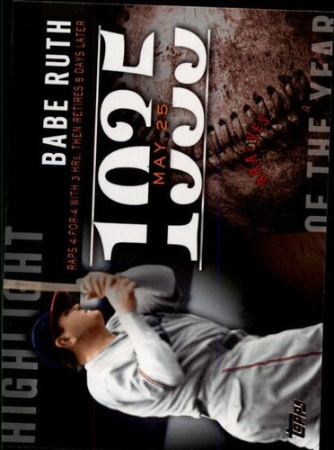 Photo of 2015 Topps Highlight of the Year #H63 Babe Ruth UPD