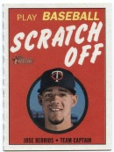 Photo of 2019 Topps Heritage '70 Topps Scratch Offs #28 Jose Berrios