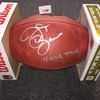 NFL - Saints J.T. Barrett signed authentic football w/ 4-0 vs TTUN inscription