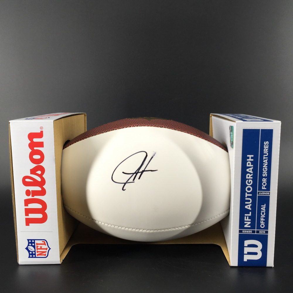 NFL - Ravens Justice Hill Signed Panel Ball