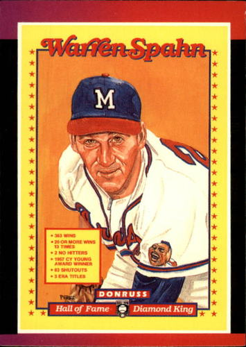Photo of 1989 Donruss #588 Warren Spahn Puzzle DP