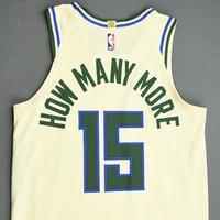 Frank Mason III - Milwaukee Bucks - Game-Worn City Edition Jersey - Dressed, Did Not Play (DNP) - 2019-20 NBA Season Restart with Social Justice Message