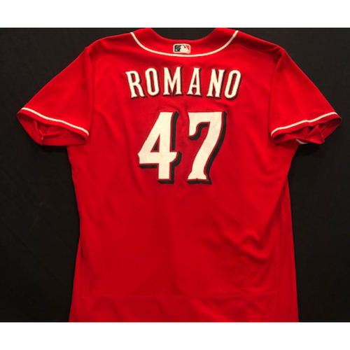 Photo of Sal Romano -- 2020 Spring Training Jersey -- Team-Issued -- Size 48