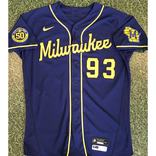 Photo of Mario Feliciano 2020 Team-Issued Road Navy Jersey