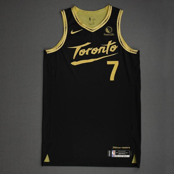 Image of Kyle Lowry - Toronto Raptors - Game-Worn City Edition Jersey - 2020-21 NBA Season