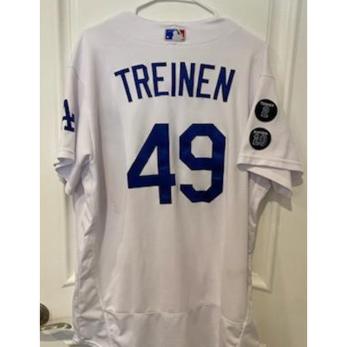 Blake Treinen Authentic Game-Used Jersey from 5/11/21 Game vs. SEA