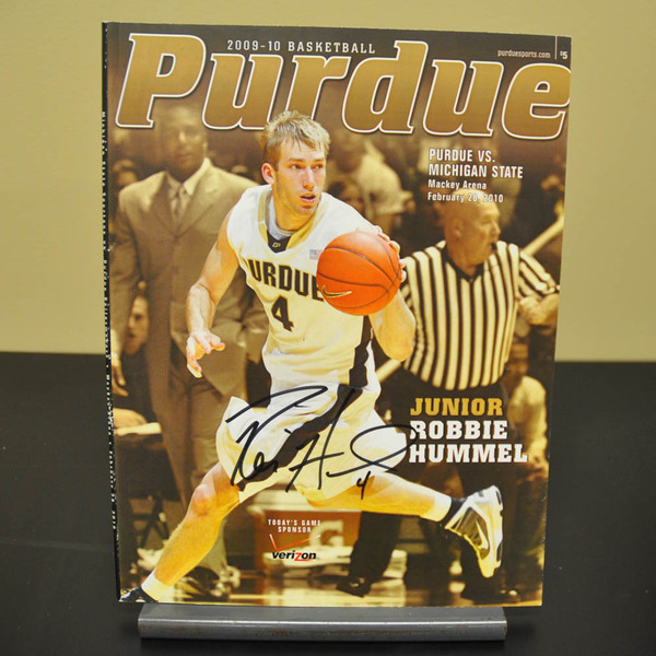 Photo of Autographed Program // Robbie Hummel // Feb. 28, 2010