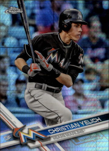 Photo of 2017 Topps Chrome Prism Refractors #72 Christian Yelich