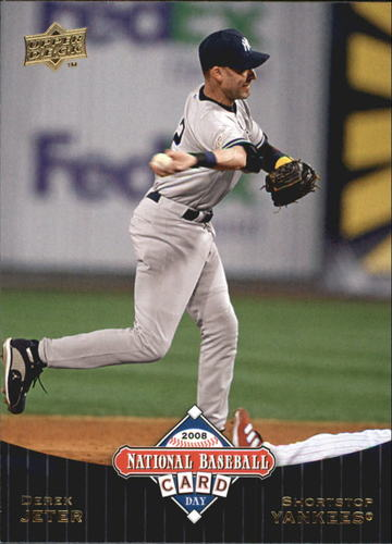 Photo of 2008 Upper Deck National Baseball Card Day #UD10 Derek Jeter