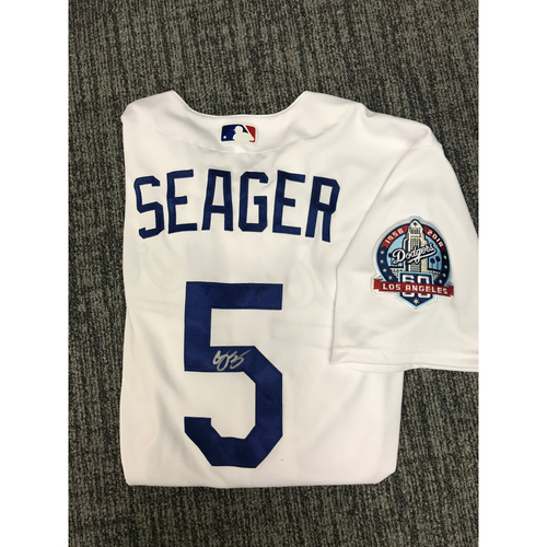 Photo of Kirk Gibson Foundation Auction: Corey Seager 2018 Game-Used Autographed Los Angeles Dodger Jersey