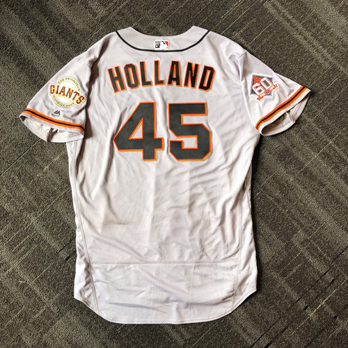 San Francisco Giants - Mother's Day Game-Used Jersey - #45 Derek Holland - 6.1 IP, 7 Ks, WIN (size 50)
