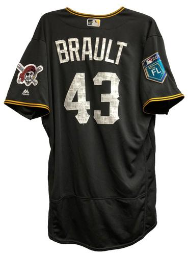 Photo of Steven Brault Game-Used 2018 Spring Training Jersey