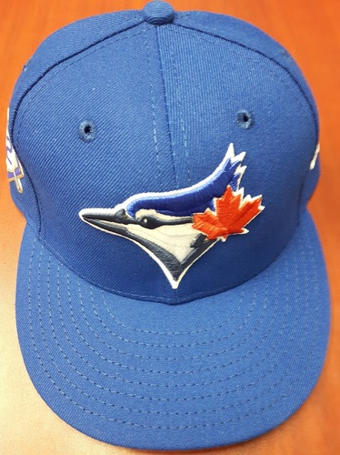 Photo of CHARITY AUCTION: Authenticated Game Used #42 Cap - Marco Estrada (May 3, 2018). Size 7 1/4