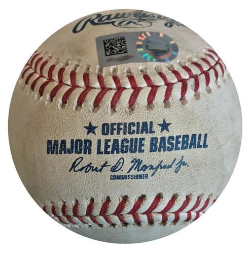 Photo of Game-Used Baseball from Pirates vs. Nationals on 7/11/18 - Austin Meadows Foul