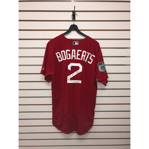 Photo of Xander Bogaerts Team Issued 2017 Spring Training Jersey