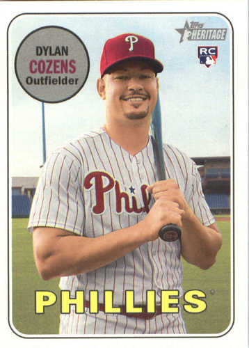 Photo of 2018 Topps Heritage #634 Dylan Cozens RC