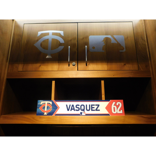 Photo of 2018 Andrew Vasquez Game-Used Locker Name Plate