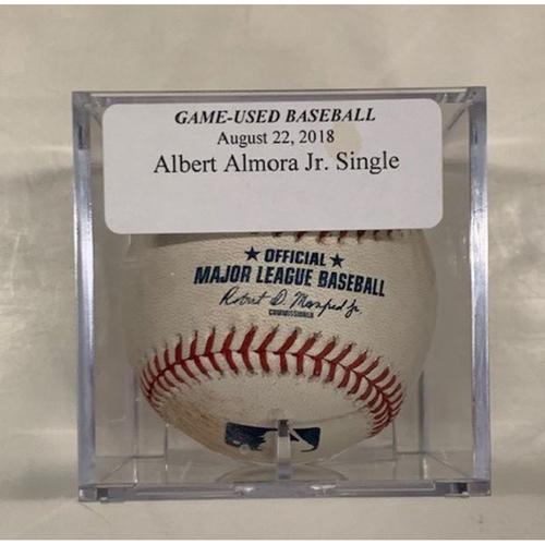 Game-Used Baseball: Albert Almora Jr. Single