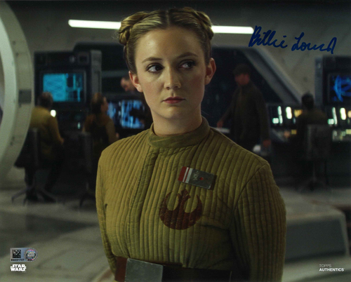 Billie Lourd As Lieutenant Connix 8X10 AUTOGRAPHED IN 'BLUE' INK PHOTO