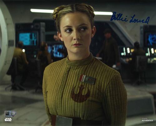 Billie Lourd As Lieutenant Connix 8X10 AUTOGRAPHED IN 'BLUE' INK PHOTO