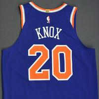 Kevin Knox - New York Knicks - 2018-19 Season - London Games - Game-Worn 2nd Half Blue Icon Edition Jersey