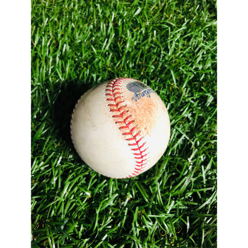 Game Used Baseball: Yandy Diaz strikeout and Avisail Garcia at-bat against Lucas Giolito - July 20, 2019 v CWS