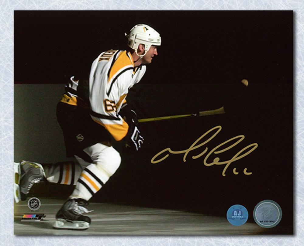 Mario Lemieux Pittsburgh Penguins Autographed NHL Playoff Intro 8x10 Photo