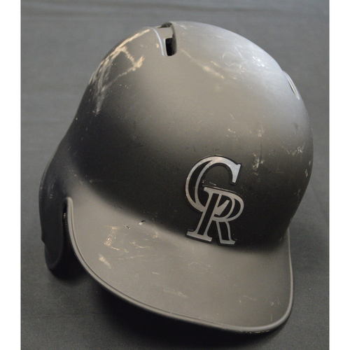 "Photo of Dom ""Nuney"" Nunez Colorado Rockies Game-Used 2019 Players' Weekend Helmet"