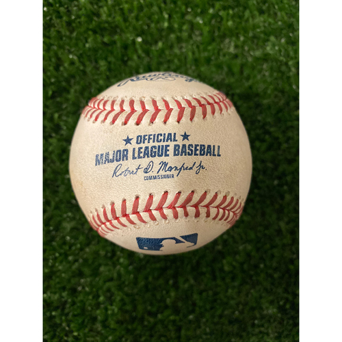 Photo of Dallas Keuchel Game Used Hit Double Baseball - 7/23/2019